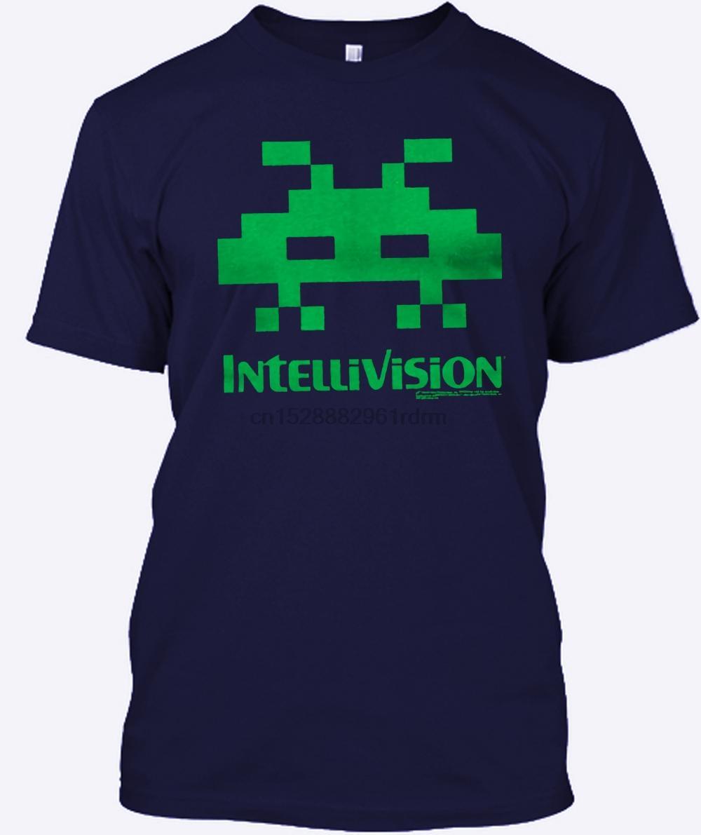 Impressionante Camiseta Moda Masculina Crew Neck de manga curta Intellivision estrangeira verde preto dos homens T-shirt novos tamanhos S a 3XL Mavdxovm