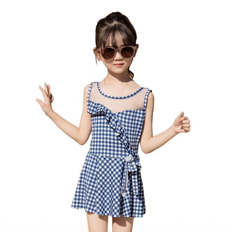 dividida swimwear do rhcrw Crianças saia das crianças doces 8-10 anos swimsuit ins estilo saia da menina maiô NT886007