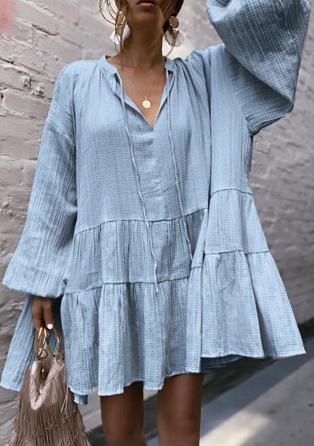 yH8In женщин Street трепал платье женщины 2019 Street законодателя v-образный вырез законодатель трепало платье 2019 V-образный вырез