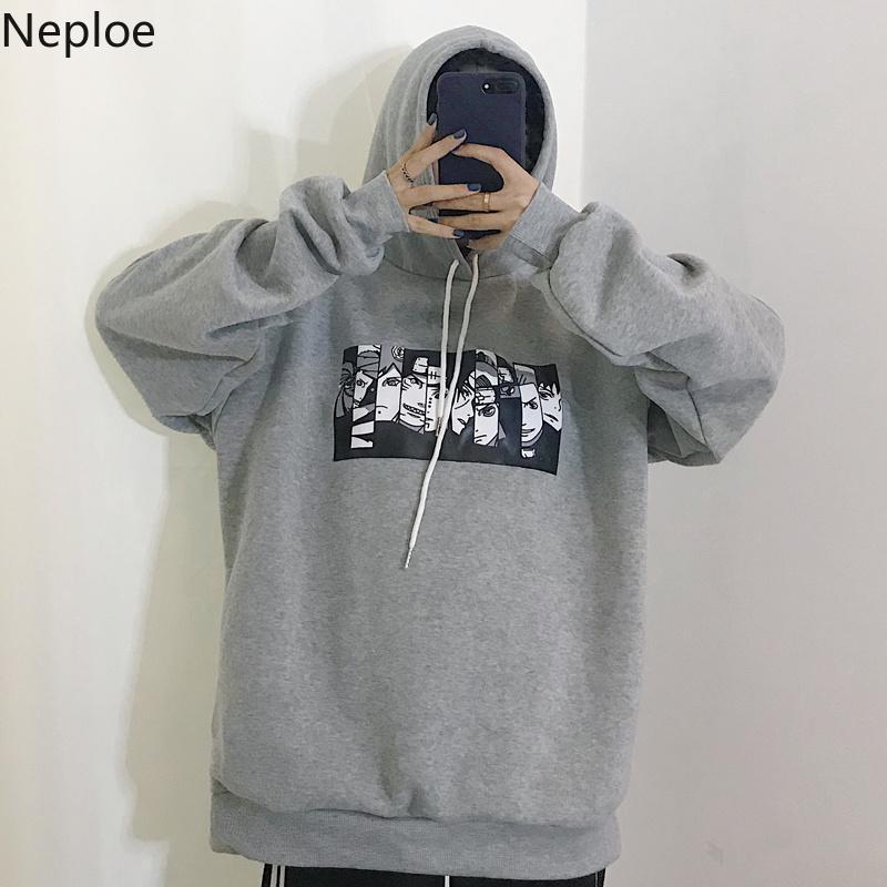 Neploe 2020 Korean Fleece Sweatshirt Woman Causal Hoodies Harajuku Cartoon Cosplay Hoodie Tops Spring Auntum Sudaderas 38444 MX200812