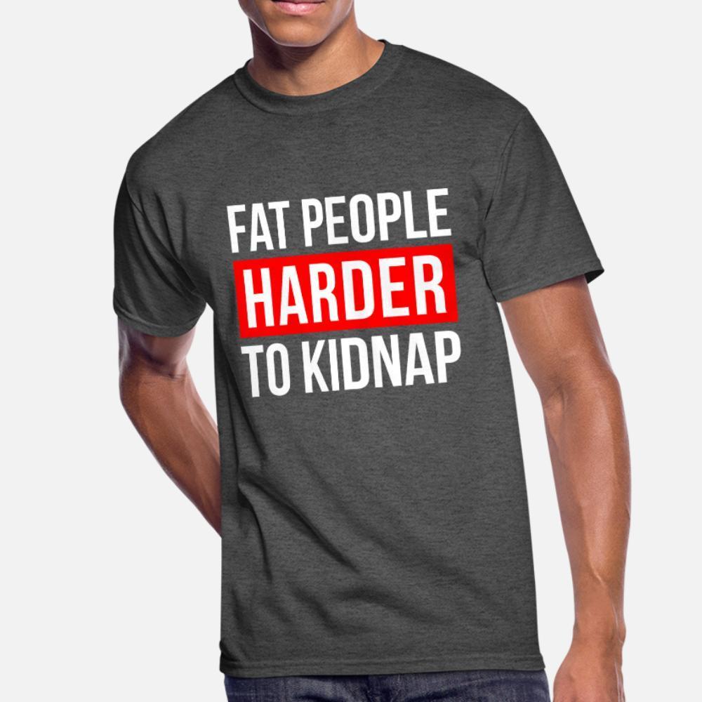 тенниска людей тучных людей Тяжелее Kidnap Character с коротким рукавом O-образный вырез Одежда Сыпучего Нового стиля Летнего стиль прохладно рубашки