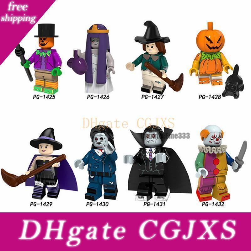 Halloween Ragazzi Mini Figure regalo Vampire piccola strega pagliaccio zucca fantasma Zombie Moster Mini Toy Building Blocks Compatibile