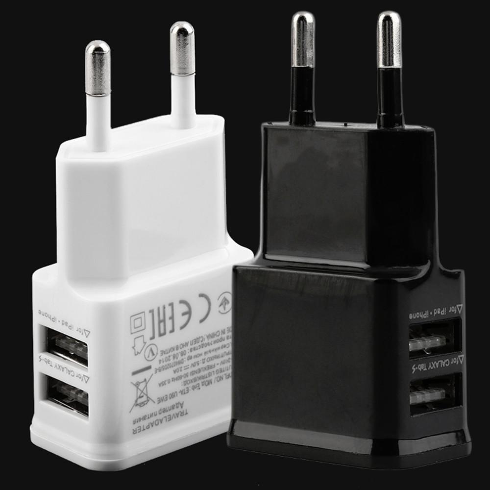 cgjxs-nous / Eu Plug 2a double de Usb Port EU Plug Ac Adaptateur chargeur mural pour N7100 Note 2 3 Mobile Tablet gros