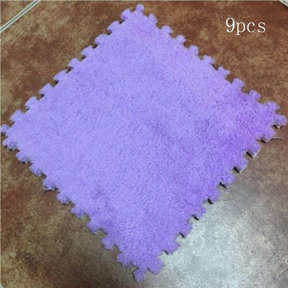NEW Long Fur Hair Eva Foam Floor Mat Baby Games Crawling Cutting Area Rug 30*30*1cm For Child Kid Living Room Bedroom Pads B1Kl#