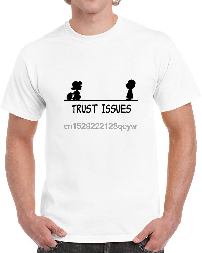 Homens T-shirt Trust Issues Camiseta T-shirt das mulheres T