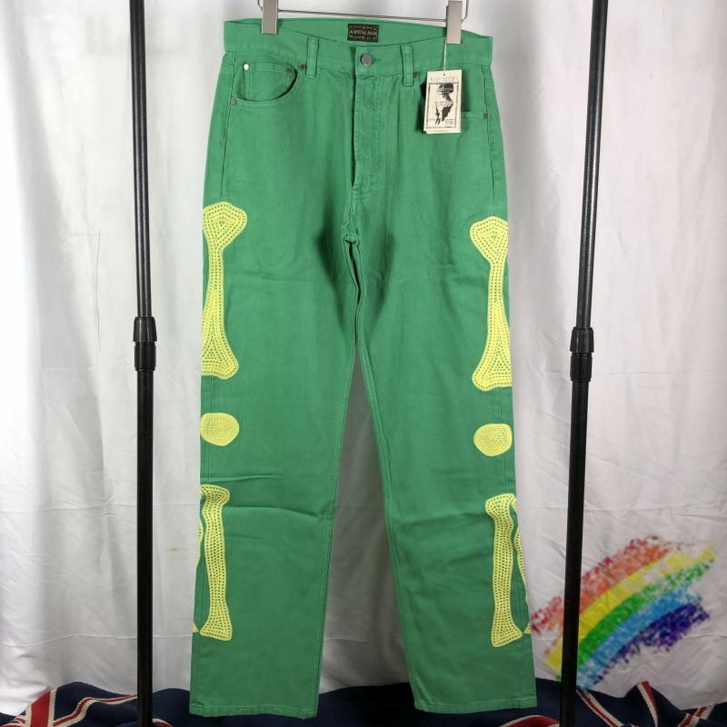 Pantalon cargo multi-poches Hommes Femmes Broderie Pantalons Pantalons vert dongguan_ss