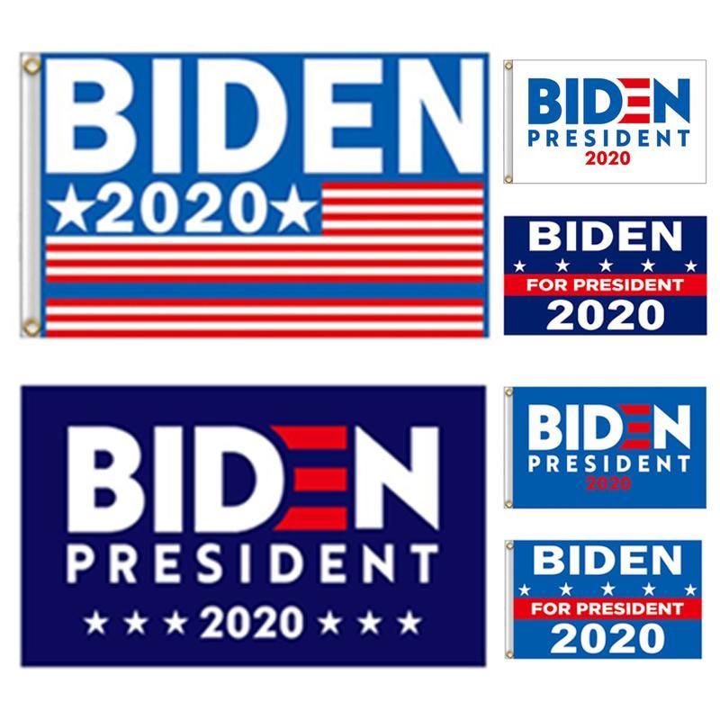 Promocional al por mayor 90 * 150 cm desfile al aire libre de poliéster Joe Biden 2020 Banderas Elección Presidencial Banner envío libre de DHL