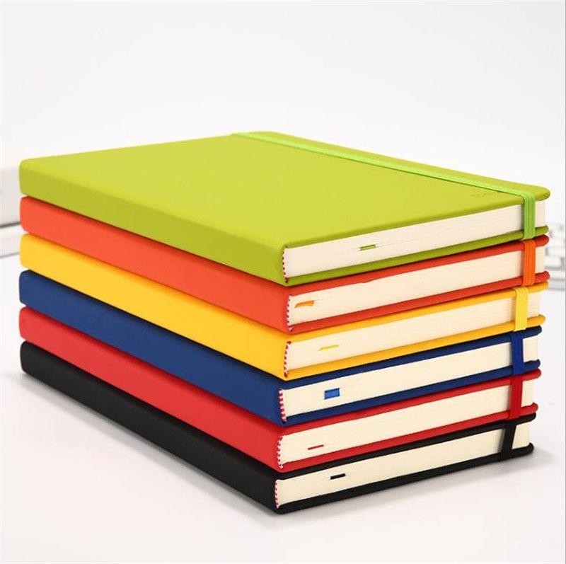A6 7 ألوان المفكرة creative غلاف فني دفتر بو فو الجلود بسيطة مجلة notepads دليل السفر المحمولة