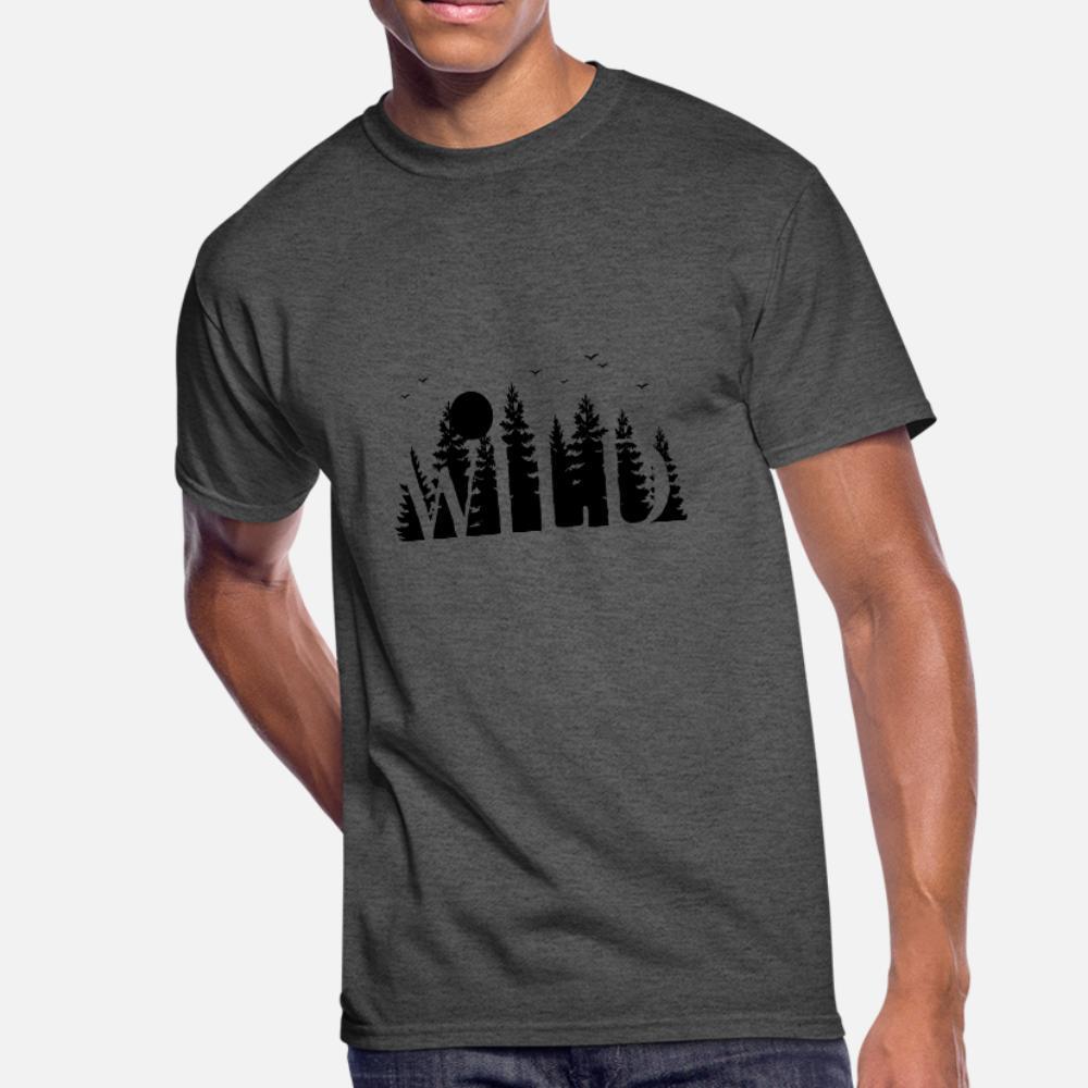 les hommes t-shirt personnalisé sauvage Bushcraft 100% coton col rond Kawaii anti-rides Respirant chemise fraîche du printemps