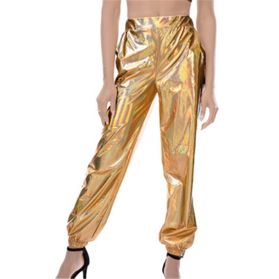 Moda Casual Katı Kadın PU Deri Pantolon Seksi Sıkı sıska Kalem Pantolon Yüksek Waisted İnce Lace Up Buttom # 909