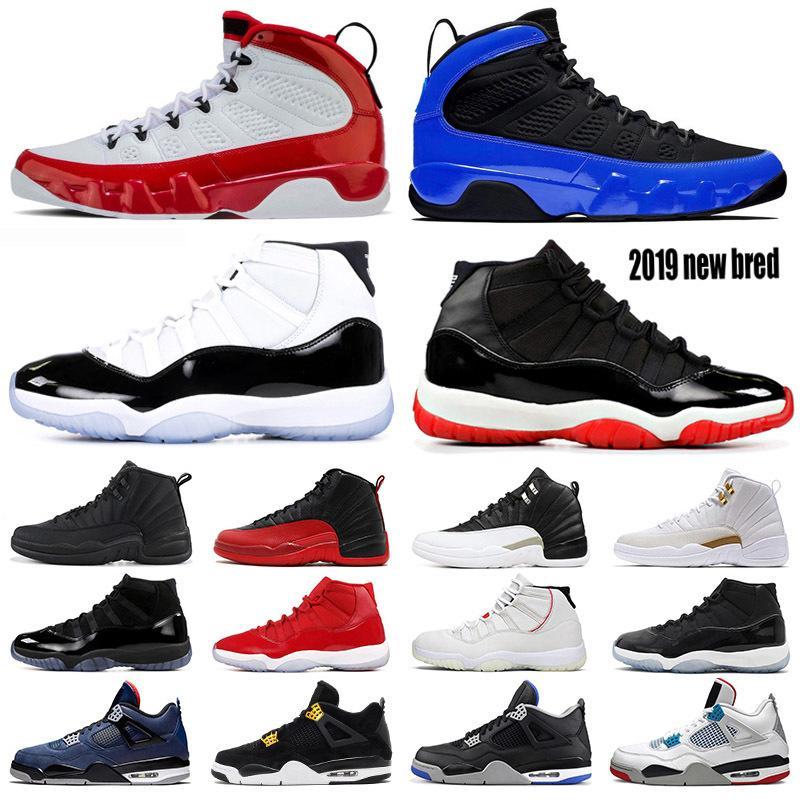 2019 zapatos de baloncesto para hombre 11s Nueva Bred Concord 45 Fiba 12s Juego de la gripe Lo que el limo rojo 4s Hombres entrenador deportivo zapatillas de deporte