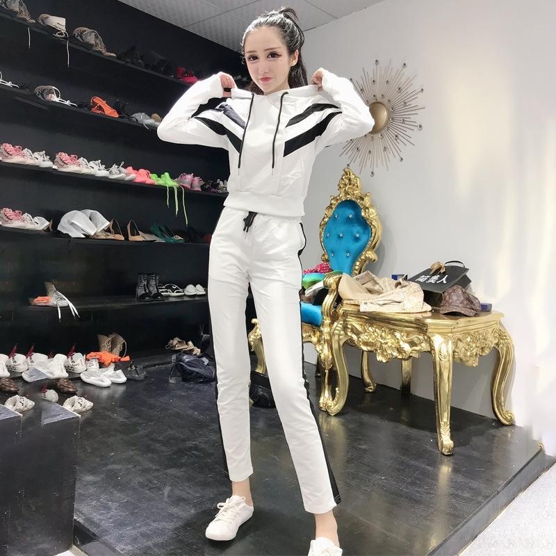 la moda eAztc 2020 y Otoño Nueva Jersey con capucha suéter de los pantalones del ocio cría de primavera personalizado Harlan deportes traje de dos piezas