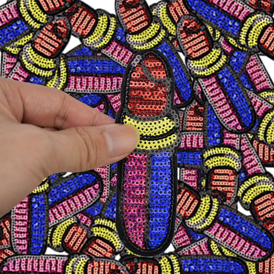 parches de bricolaje para la ropa de hierro bordado remiendo del hierro en apliques Parches insignia accesorios pegatinas para la ropa bolsa 10pcs DZ-136