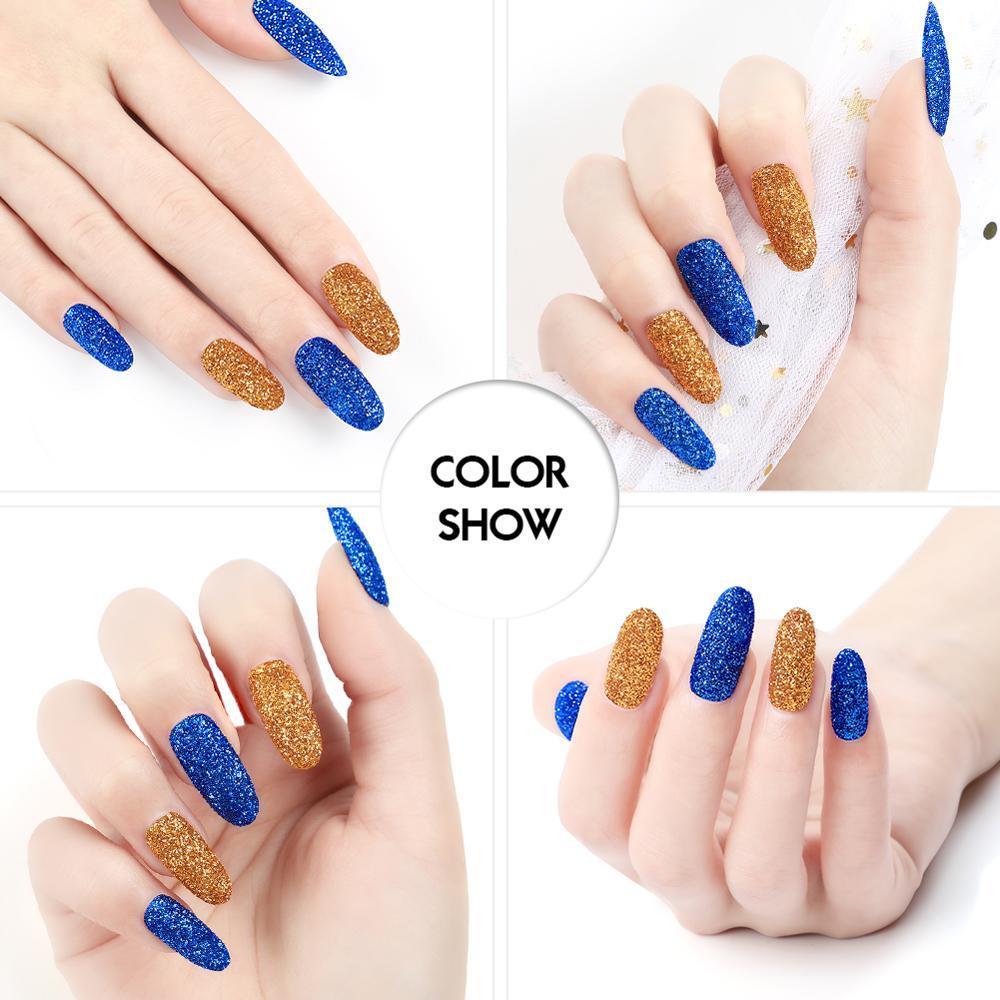 Acrylique manucure pcs acrylique Poudre Glitter Nail Art Kit Rhinestone décoration Pinceau Outils Kit Manucure