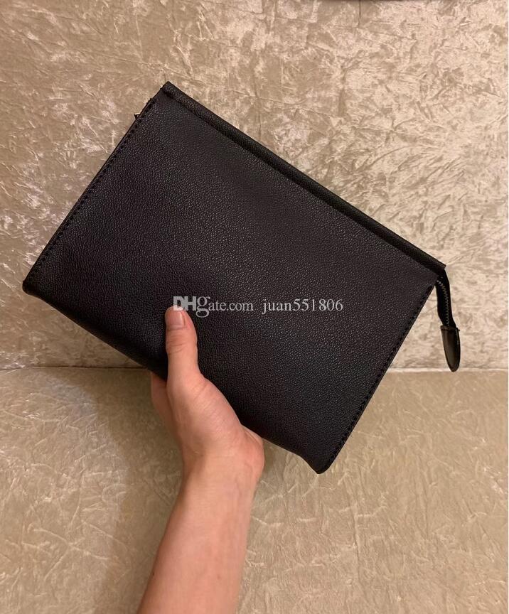 Leather Clutch Donne New corsa di alta qualità da toeletta del sacchetto di 26 centimetri di protezione trucco waterproof sacchetti cosmetici per le donne Sacchetto polvere Con