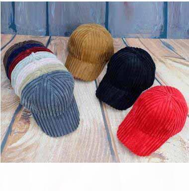 Criativa Bola Corduroy capacitores sólidos Stripe Bonés de beisebol de Mulheres Homens Moda Street Style Sun Caps frete grátis