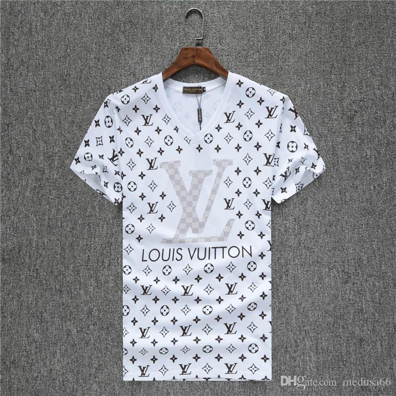 2020 camisas do T dos homens Designers de Moda de algodão de manga curta poloshirt Medusa Camisetas divertidas Harajuku camiseta Casual Men Tees