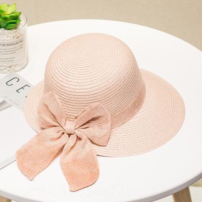 Пляж корейский летом приморский отдых ВС универсальный детский соломы складного соломенной шляпе ВС шляпы Rs40h