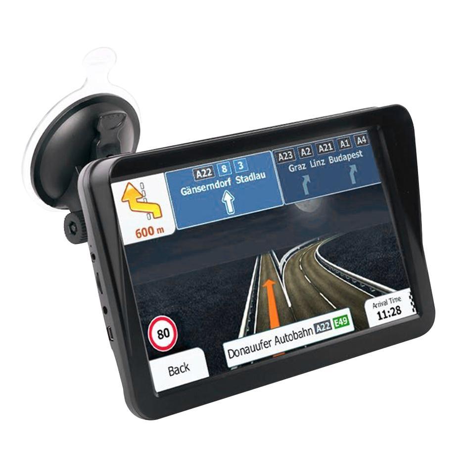 "Navegación GPS de camión de automóvil de 9 ""pulgadas con Bluetooth AV-IN FM 8GB Sun Shade Visor Capactive Screen GPS Navigator"