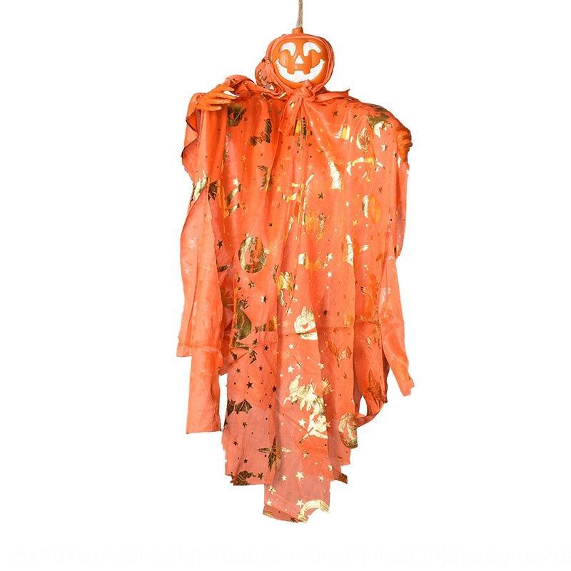 5pNVn Halloween hantait petit contrôle de la tête de citrouille Ghost jouet pendaison voix Bar props Bar toysite fournitures de décoration toyProp n6RUW
