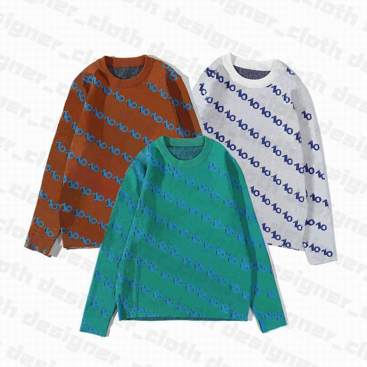 20ss de marca para hombre diseñadores suéteres de alta calidad nuevo invierno para hombre suéter chaqueta de punto cuello bajo suéter