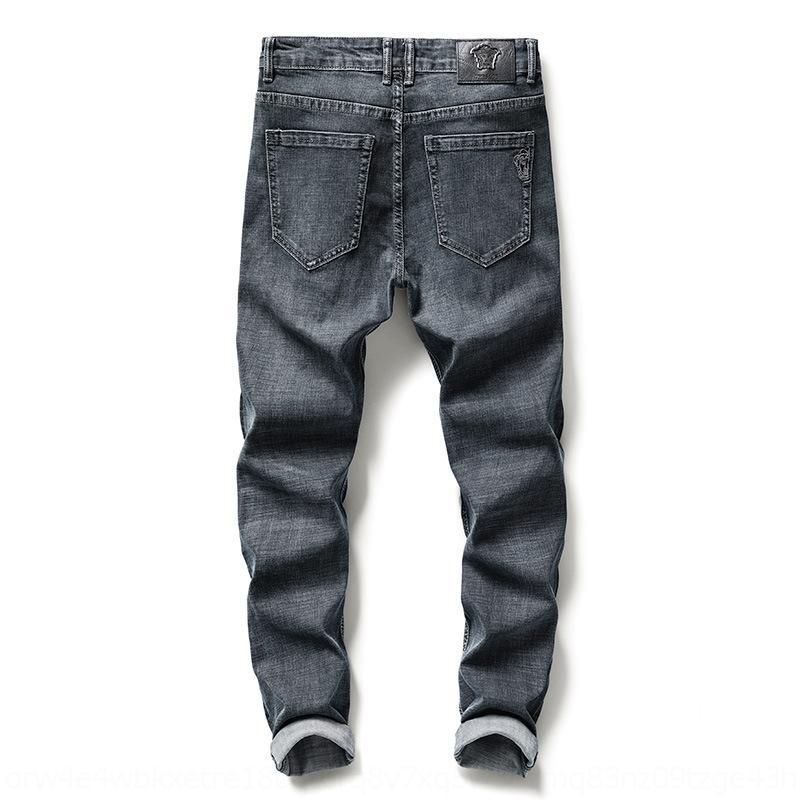 OGyAd 8jdK0 Primavera Verão calça jeans nova dos homens magros e jeans estilo coreano moda Calças de cintura encaixar pequena mid e casual reta elástica all-jogo