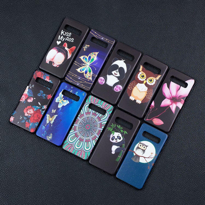 cgjxsFlower macio TPU Para Huawei P40 P30 P Borboleta animal inteligente 2,019 honra 10 Lite Galaxy S10 S10e M10 M20 Relief Owl Panda dos desenhos animados Co