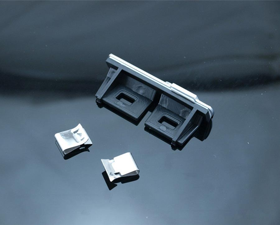 자동차 스타일링 S 라인 슬레이트 프론트 그릴 엠블럼 배지 Chromed 플라스틱 ABS-프론트 그릴 마운트 A1 A3 A4 A4L A5 A6L S3 S6 Q7 라벨