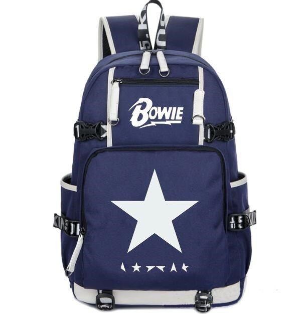 Blackstar backpack David Bowie school bag Black star music daypack Casual laptop schoolbag Outdoor rucksack Sport day pack