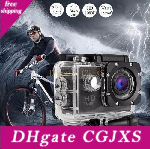 Wholesale Action Camera Full Hd 1080p Digital Sports Dving Photo Cam Underwater Waterproof Cameras 30m Camcord 2 .0 Inch Mini Video Cam