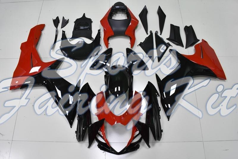 Carenados para GSXR 750 2011 - 2018 K11 Negro carenado de la motocicleta roja de Suzuki GSX-R600 2016 carenados para Suzuki GSXR600 2013