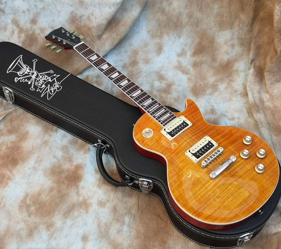 Neue Ankunft Slash Appetit Bernsteinflamme Ahorn Top E-Gitarre Slash AFD