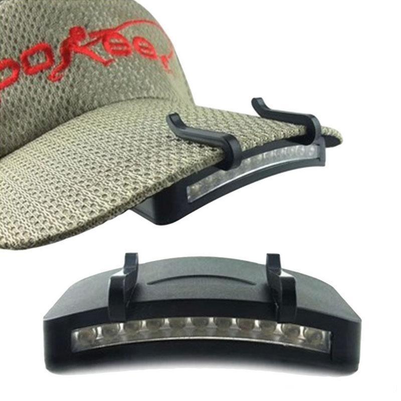 11 Faro casquillo al aire libre Cabeza - brillante linterna de la luz de la lámpara clip de la antorcha de la caza que acampa Sombrero Súper LED que pesca luces de faros zbhwss TLK