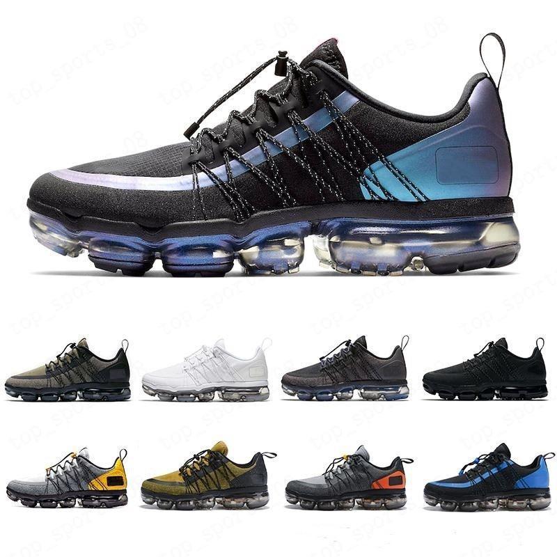 2020 حار الليزر الفوشيه UTILITY الاحذية للرجال ثلاثية أسود أبيض العاكسة الذئب الرمادي مصمم الرجال المدربين الرياضية حذاء 40-45