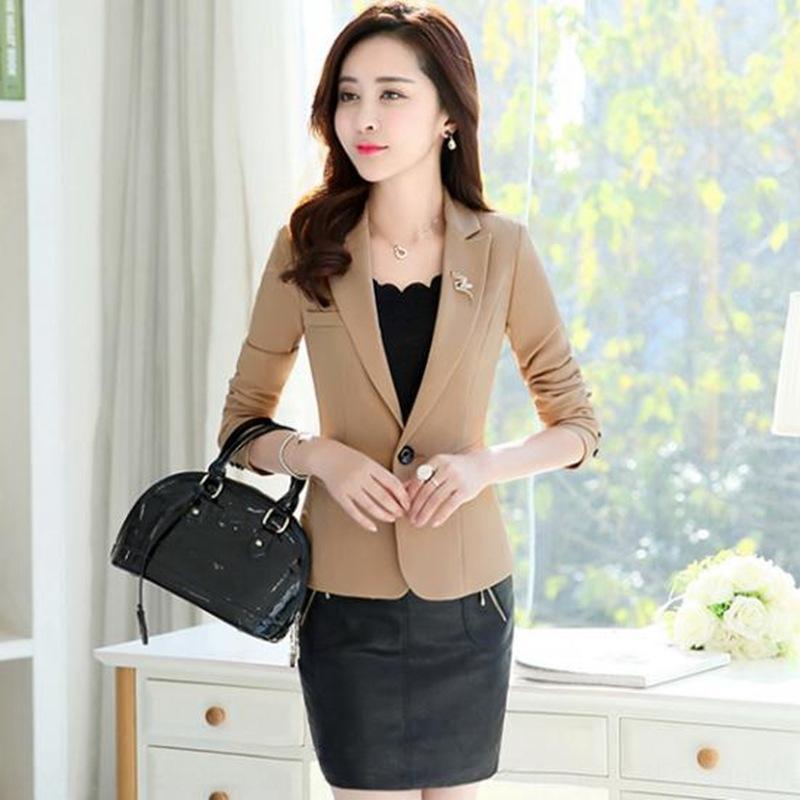 1QmlN 2020 primavera e l'autunno coreano stile tuta cappotto casuale Maglia a manica lunga slim fit grandi dimensioni cappotto piccolo vestito per le donne