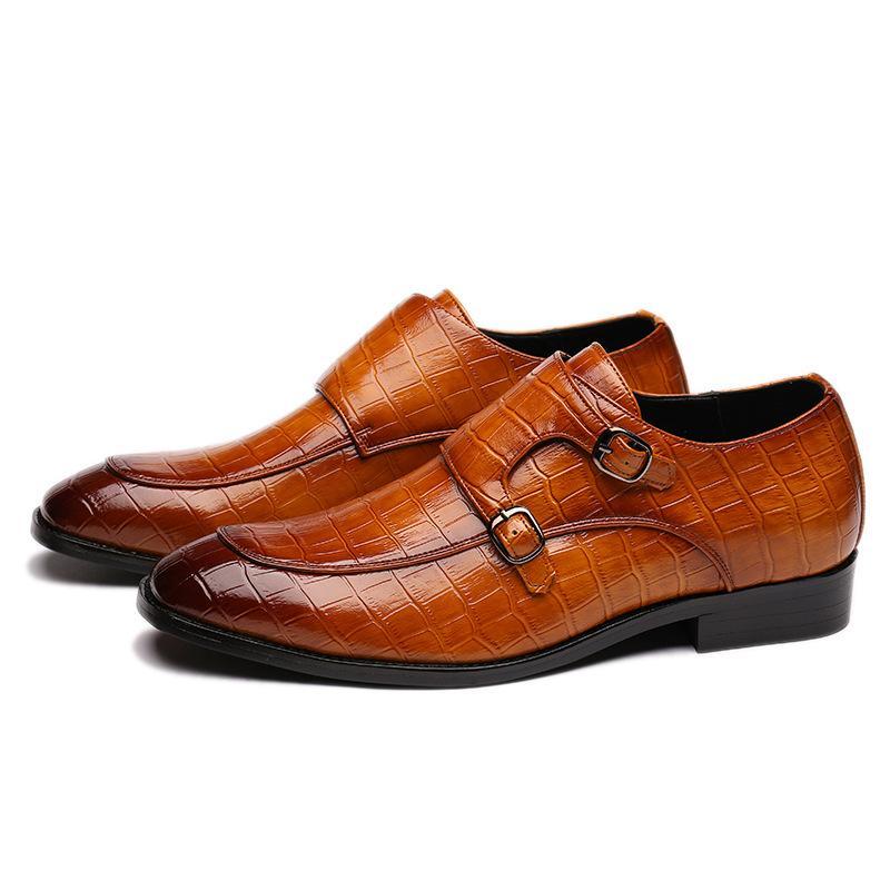 Festa de Natal Loafers 2020 clássico Crocodile Pattern Business Flat Shoes homens do desenhista vestido formal de couro sapatos masculinos