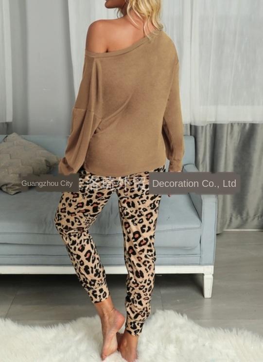 f1tv1 2020 autunno e l'inverno il tempo libero vestito leopardo della tasca di stampa T-shirt T-shirt pantaloni home home pantaloni due pezzi