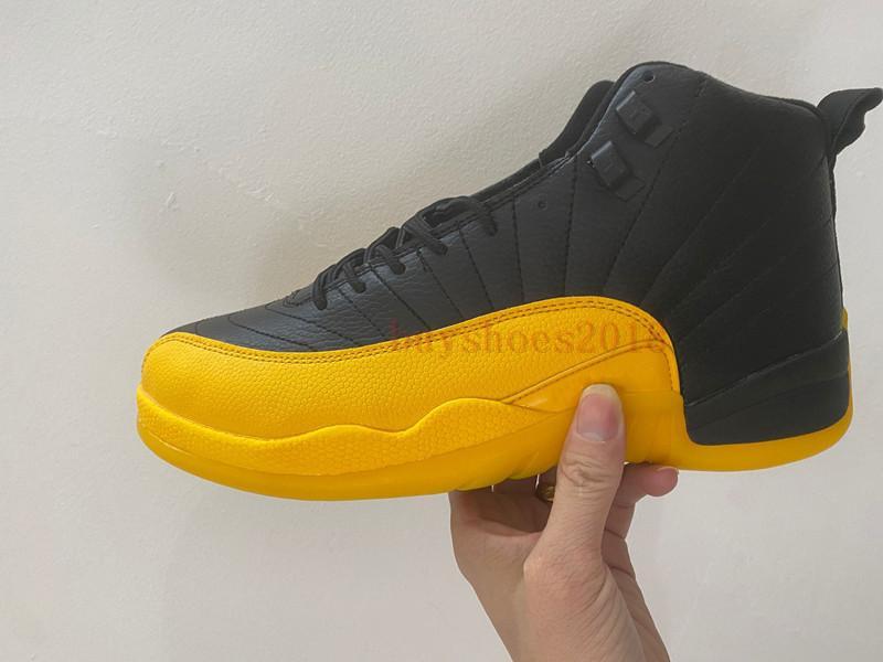 12 Üniversite Altın Basketbol Ayakkabı 12s Yıl Pig Kara Sarı Altın Mens bak Mens 130690-070 Spor Sneakers ile Kutusu