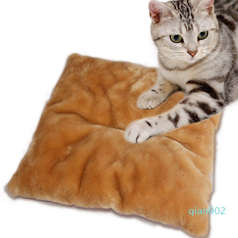 DannyKarl Pet Supplies Cat Chenil Kennels Mat Four Seasons Nest Mat Super Soft peluche amovible et lavable rembourré en été