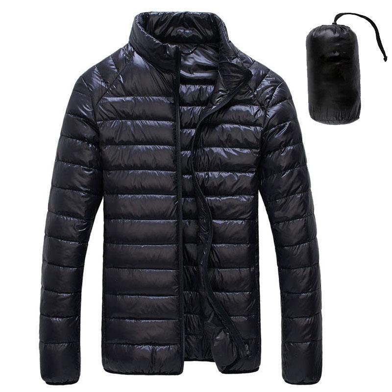 2020 Otoño Invierno Pato blanco Downs chaqueta de los hombres ultraligeros portátiles abrigos esquimales Capa Caliente Casual Male a prueba de viento chaqueta Outwear 5XL 6XL CX200817