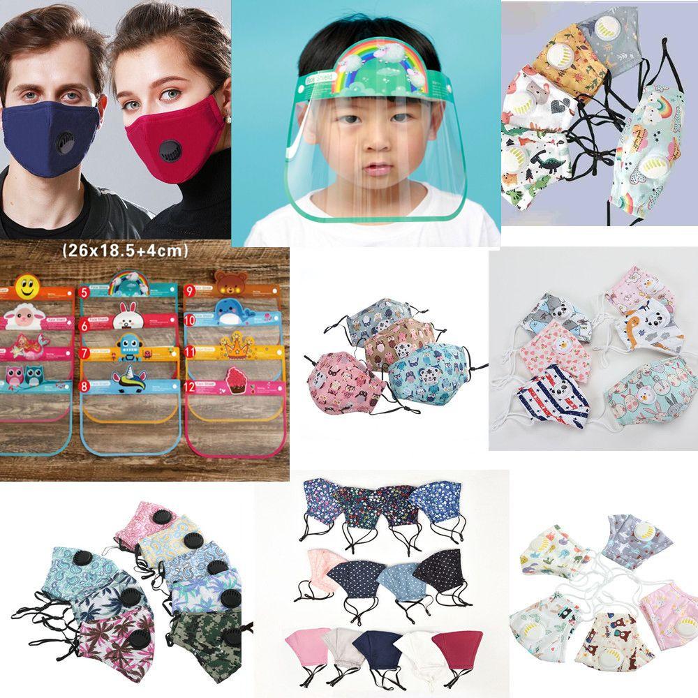 les enfants font face à un écran facial masque masques lavables kids ppe réutilisables Masques anti-poussière lavable et bouche respirant masques design unisexe 2020