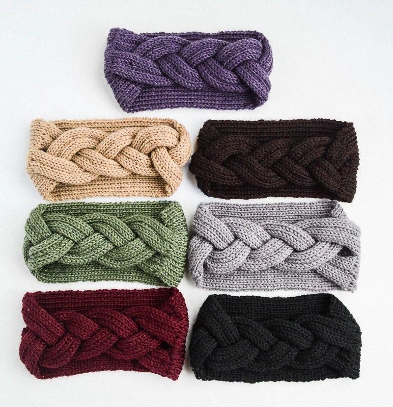 DHL 2018 nuova fascia del cappello lavorato a maglia dei capelli delle donne della fascia di moda Crochet acrilico variegato capelli caldo fasce delle ragazze inverno accessorio 73Kz #