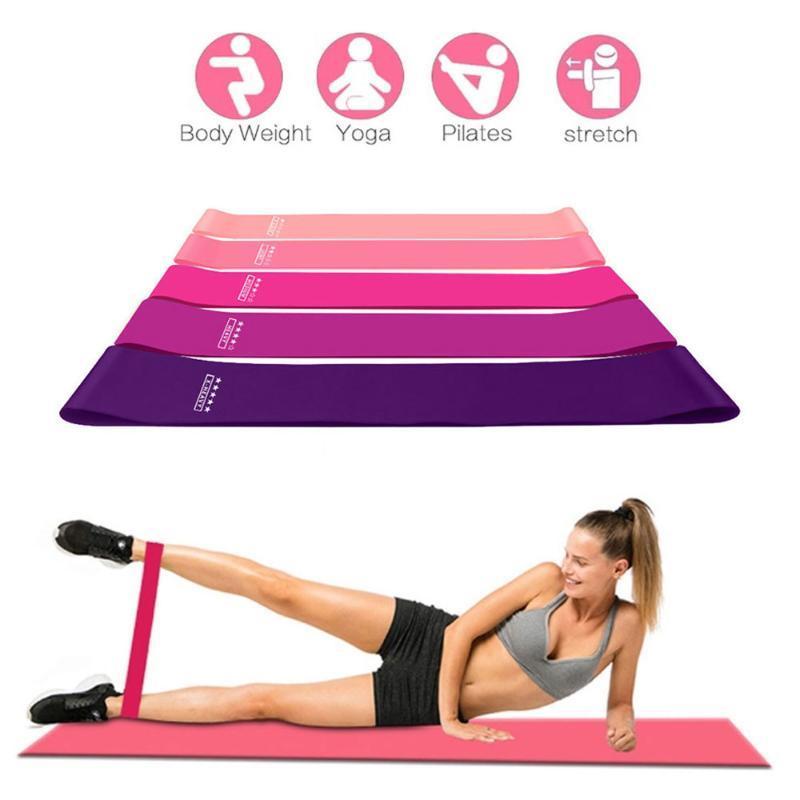 5Pcs Yoga bande di resistenza Crossfit 5 livello di formazione gomma fune per gli sport Pilates espansore di forma fisica di allenamento di ginnastica attrezzature
