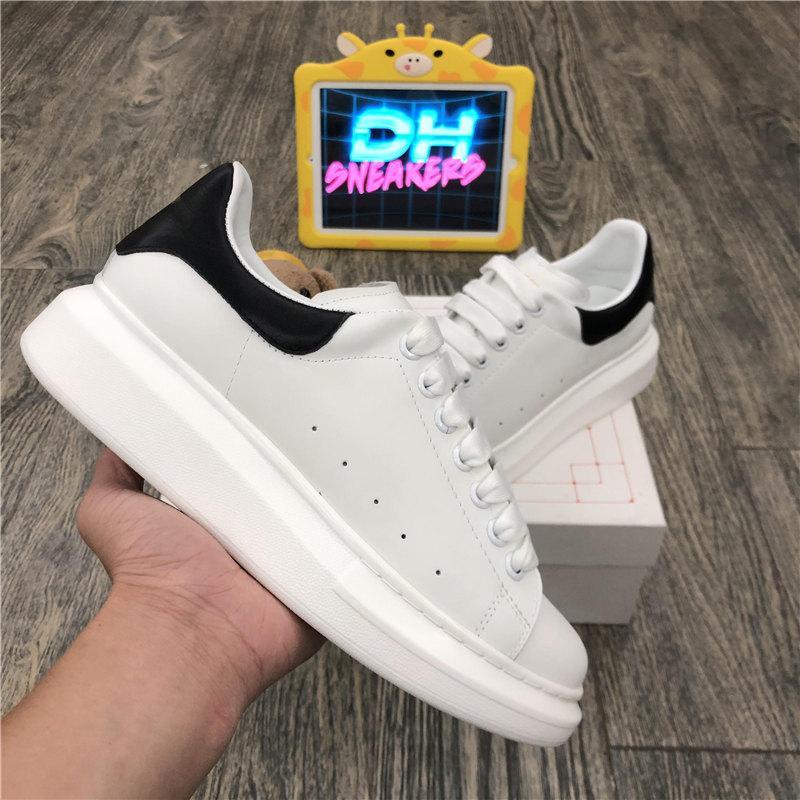 Yüksek Kaliteli Womens Blcak Velet Çiftler Sneakers Ucuz En İyi Moda Beyaz Deri Platform Ayakkabı Düz Dış Mekan Günlük Elbise Parti Ayakkabıları