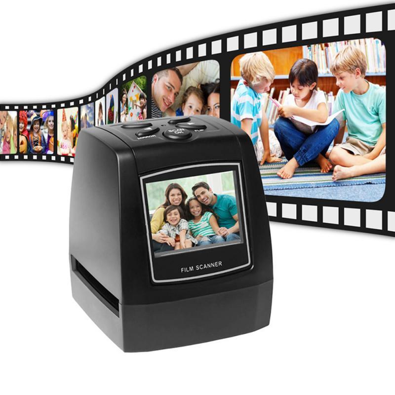 "MINI 5MP 35мм 135мм Negative Film Scanner Negative Slide Photo Film Преобразует USB-кабель LCD Slide 2,4"" TFT для фото"