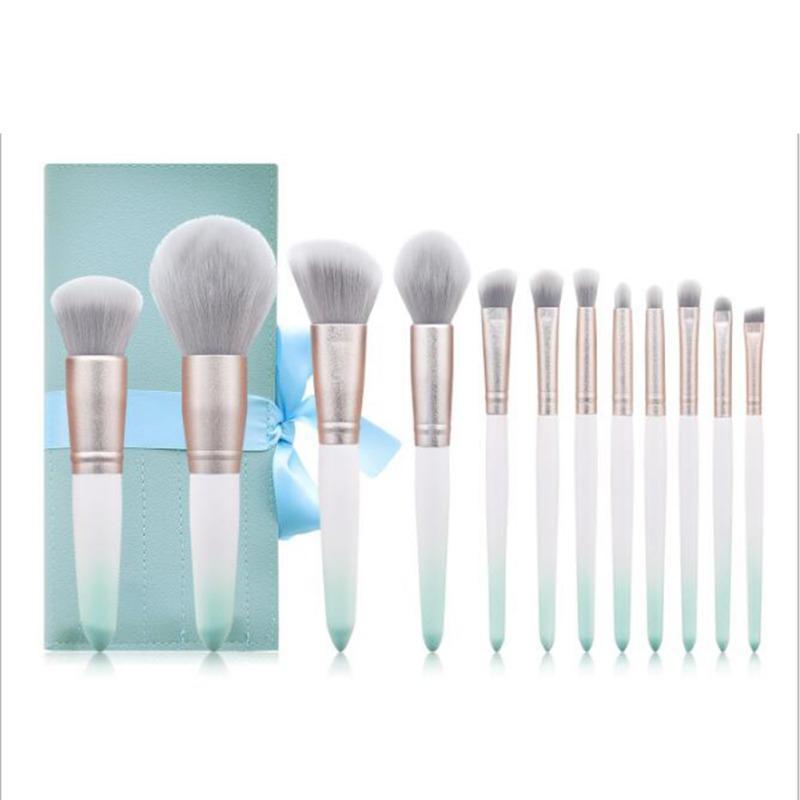 12 шт / комплект для макияжа Кисти Loose Powder Foundation Brush Eyeshadow Blush Brush Набор инструментов красоты Валентина Подарок 2020