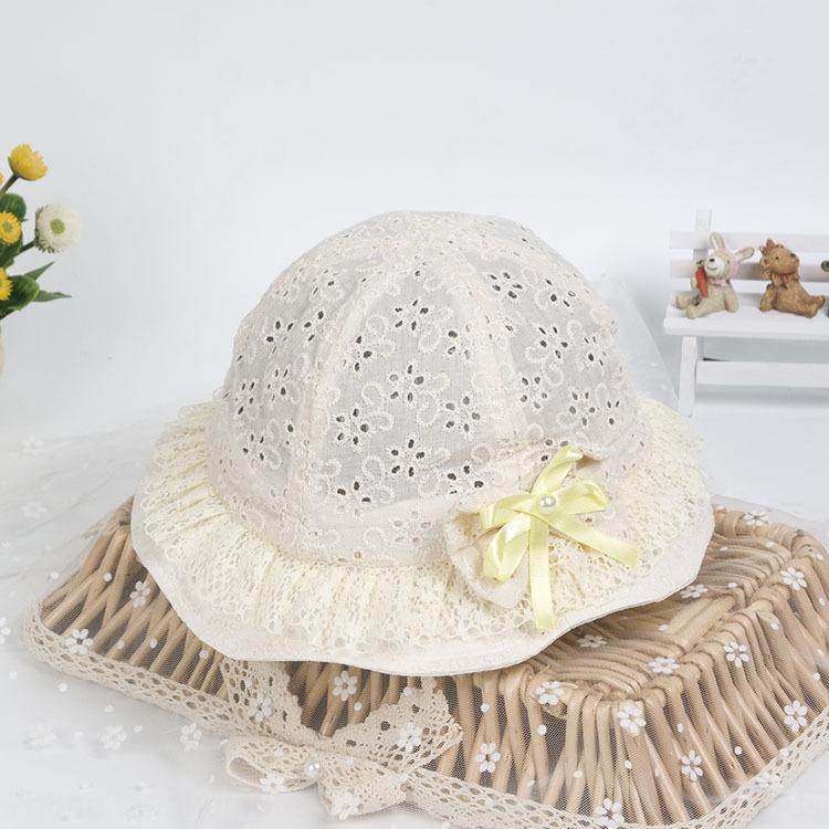 bacino di cava sole secchio pizzo cappello di estate delle ragazze del merletto del bambino dei bambini traspirante pescatore all'aperto cappello pescatore