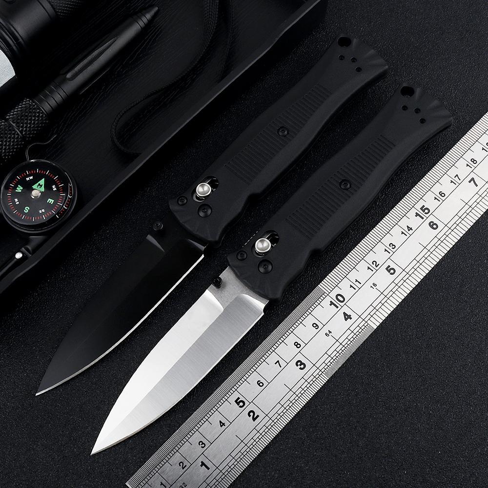OEM BM 530 530BK Folding Knife Satin Blade Brass Washer Zetel Handle Outdoor Camping Hunting Pocket Knife EDC Tool Giveaway Knife