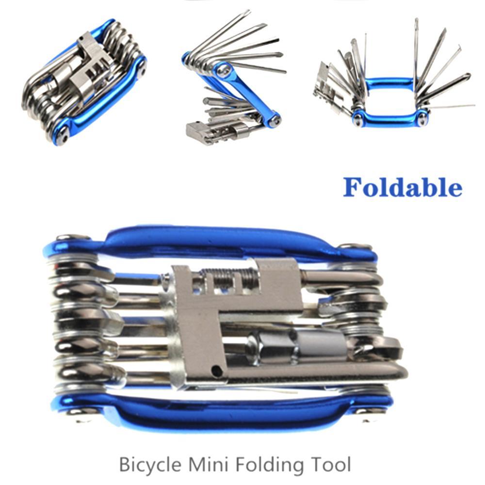 Bicycle Tools Repairing Set Multi Function 15 In 1 Bike Repair Kit Screwdriver