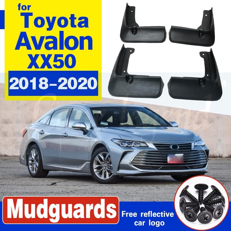 4pcs Set Car Moulé boue Rabats Bavettes garde-boue arrière Garde-boue avant pour Toyota Avalon xx50 2018 2019 2020 Accessoires
